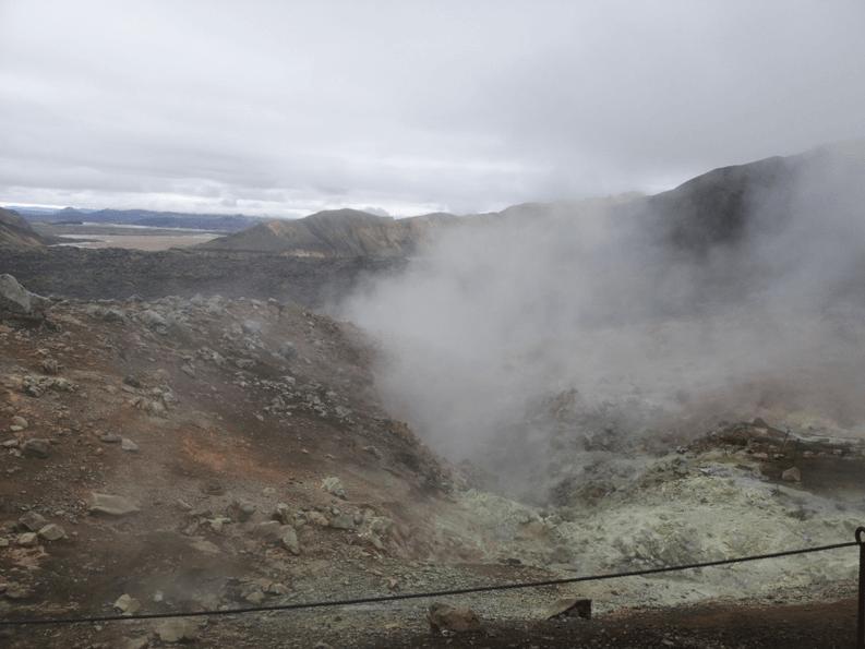 Aktívna sopka - Island