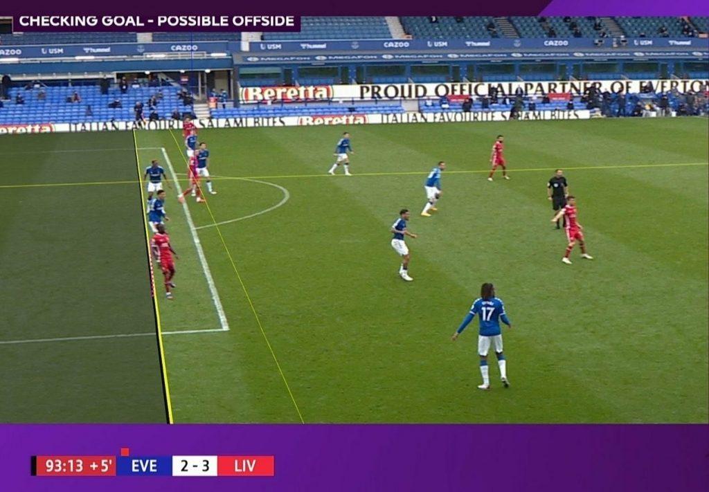 Mané offside proti Evertonu
