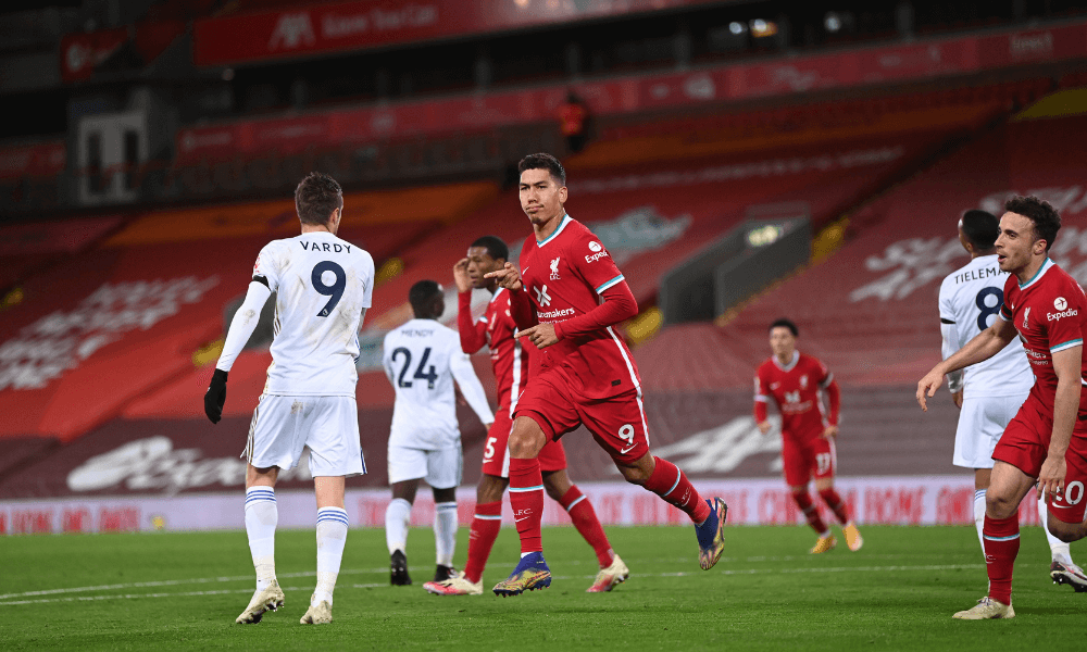 Liverpool - Leicester, Firmino gól
