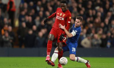 Divock Origi v zápase Liverpool - Chelsea