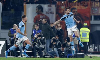 Lazio Rím gól v derby proti AS Rím