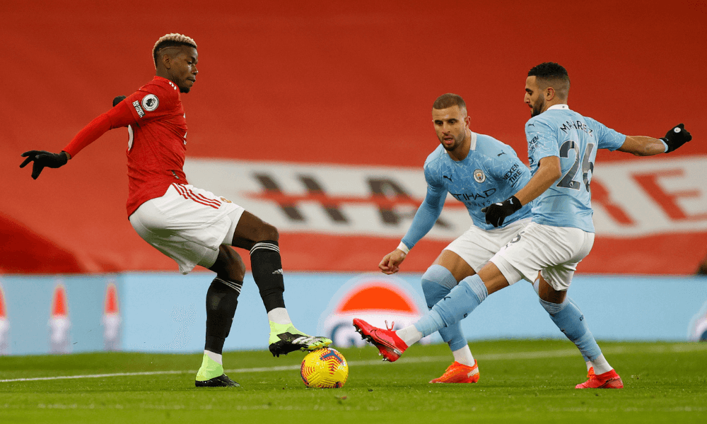 Man City - Man United, Pogba Mahrez