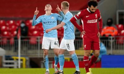 Phil Foden gól proti Liverpoolu