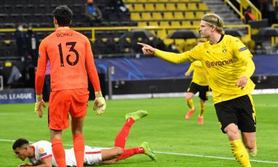 Erling Haaland v zápase Dortmund - Sevilla