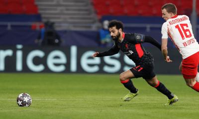 Salah v zápase Liverpool - Lipsko