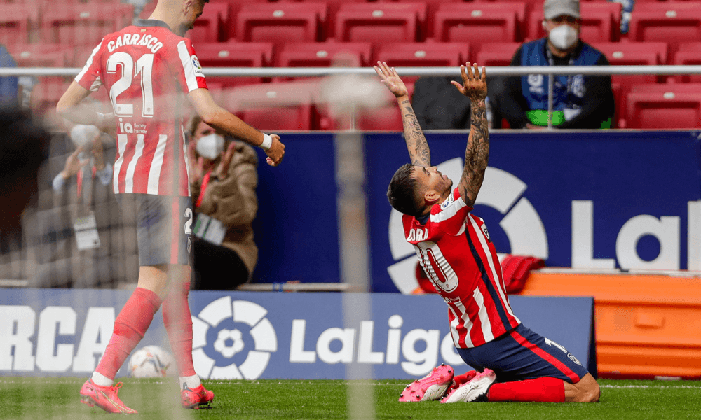 Atlético Madrid gólová oslava