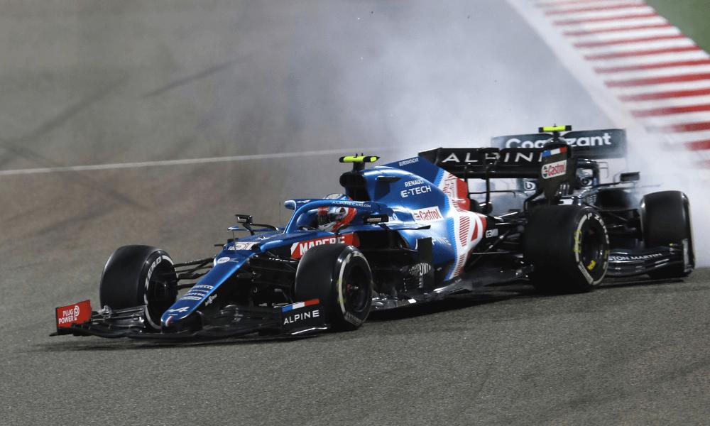 Vettel a Ocon - Veľká cena Bahrajnu