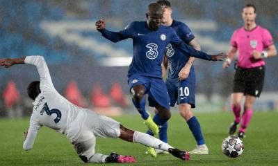 Kante v semifinále Ligy majstrov Real Madrid - Chelsea