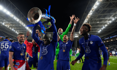 Ngolo Kanté s trofejou - Liga majstrov