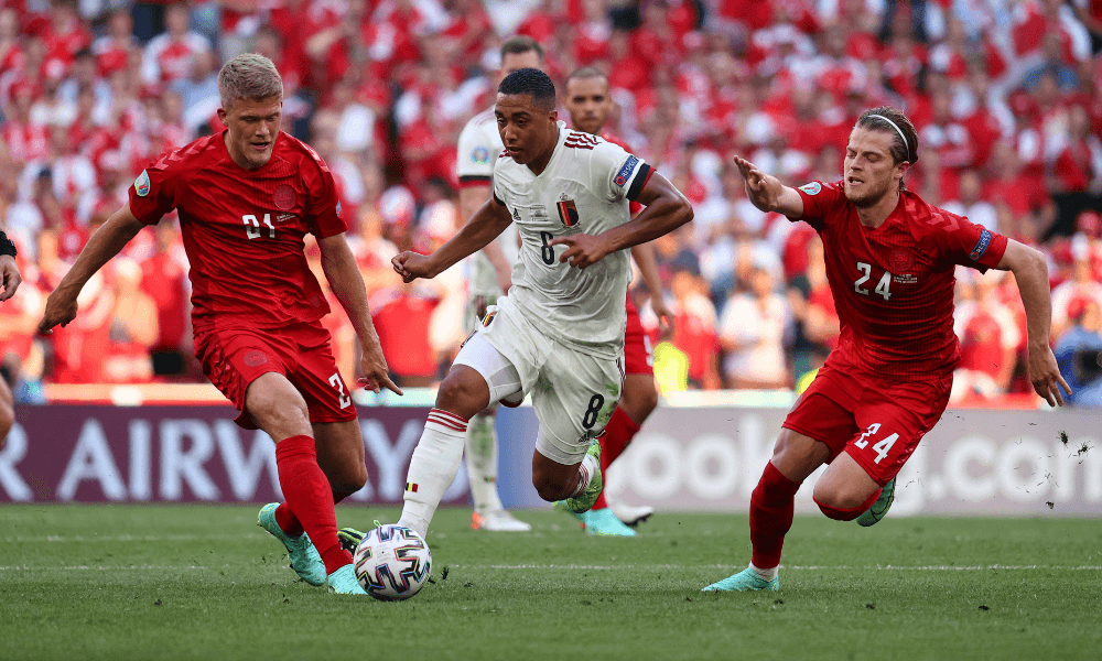Dánso - Belgicko na EURO 2020