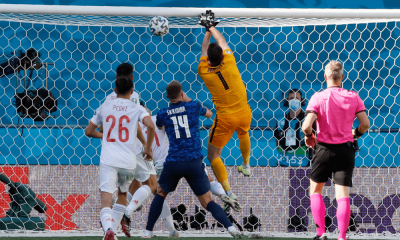 Dúbravka vlastný gól v zápase Slovensko - Španielsko