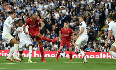 Fabinho strieľa gól za Liverpool