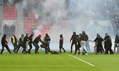 Potýčka fanúšikov v zápase Slovan Bratislava - Spartak Trnava